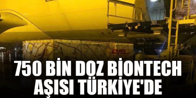750 bin doz BioNTech aşısı Türkiye'ye geldi