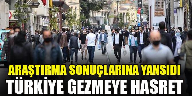 Araştırma sonuçlarına yansıdı... Türkiye gezmeye hasret