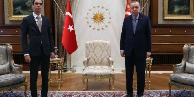 Başkan Erdoğan, Muhsin Yazıcıoğlu'nun oğlunu kabul etti