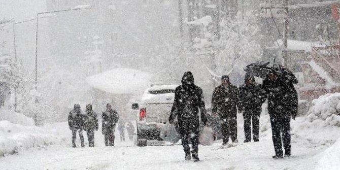 14 il için kuvvetli kar yağışı uyarısı