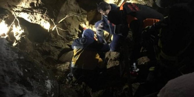 Göçük altında kalan kişi hayatını kaybetti