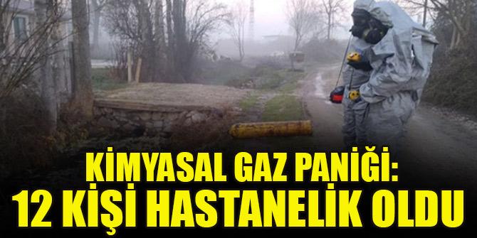 Kimyasal gaz paniği:2'si polis toplam 12 kişi hastaneye kaldırıldı