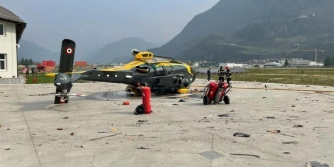 İtalya'da polis helikopteri kaza yaptı