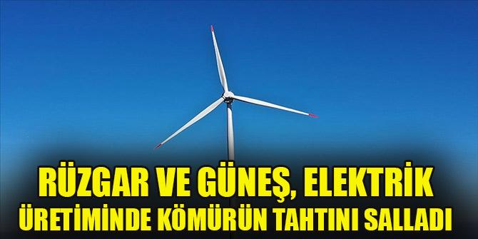 Rüzgar ve güneş, elektrik üretiminde kömürün tahtını salladı