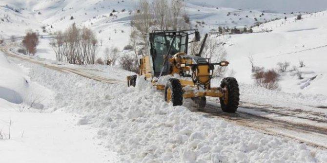 """Baharda """"kar"""" mesaisi sürüyor: 43 yol ulaşıma kapalı"""