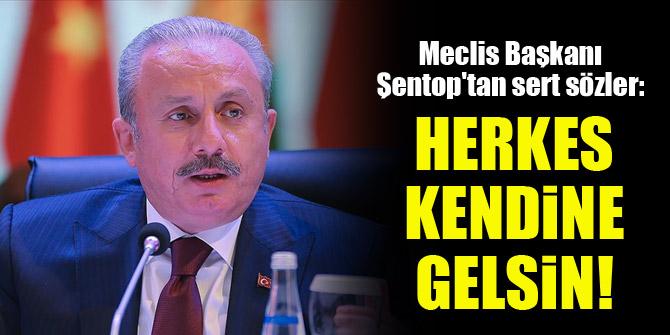 Meclis Başkanı Şentop'tan sert sözler: Herkes kendine gelsin!