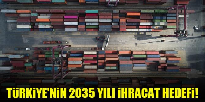 Türkiye'nin 2035 yılı ihracat hedefi!