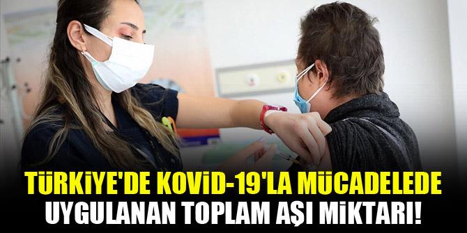 Türkiye'de Kovid-19'la mücadelede uygulanan toplam aşı miktarı!