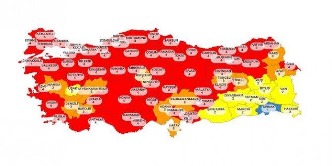 Risk haritası güncellendi