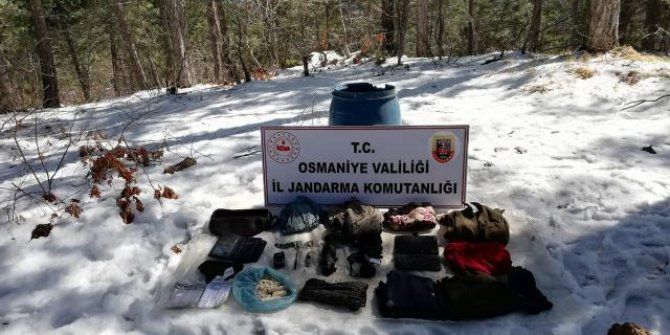 Amanoslar'da PKK'lı teröristlerce kullanılan sığınak imha edildi