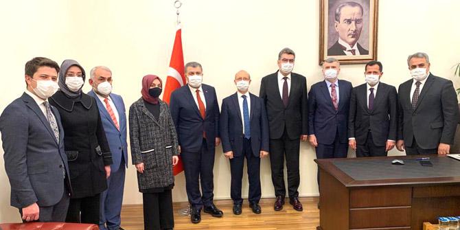 Konya vekillerinden Bakan Koca'ya ziyaret