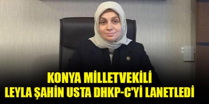 Konya milletvekili Leyla Şahin Usta DHKP-C'yi lanetledi, HDP sıraları ayaklandı