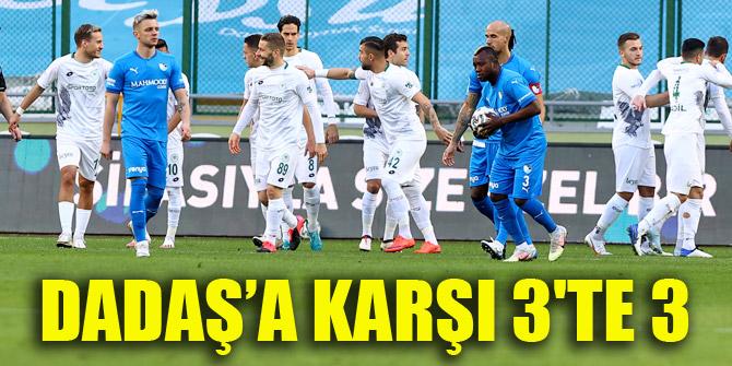 Konyaspor'dan Dadaş'a karşı 3'te 3
