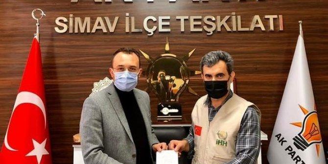 AK Parti İlçe Teşkilatı'ndan 'Mazluma çatı ol' kampanyasına destek