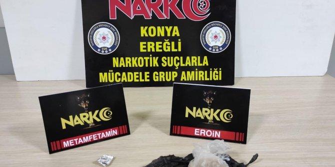 Konya'da uyuşturucu operasyonu: 2 gözaltı