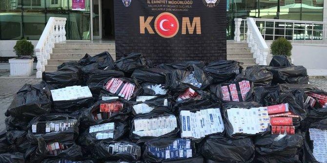 Tankerde 43 bin paket sigara ele geçti: 2 gözaltı