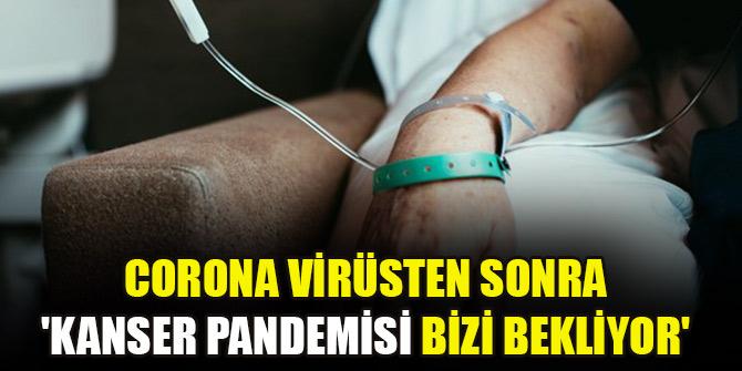 Corona virüsten sonra 'Kanser pandemisi bizi bekliyor'