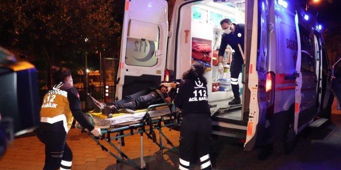 Kumar oynarken basılan kadın 2. kattan atlayıp yaralandı...Eşi elbiselerini parçaladı