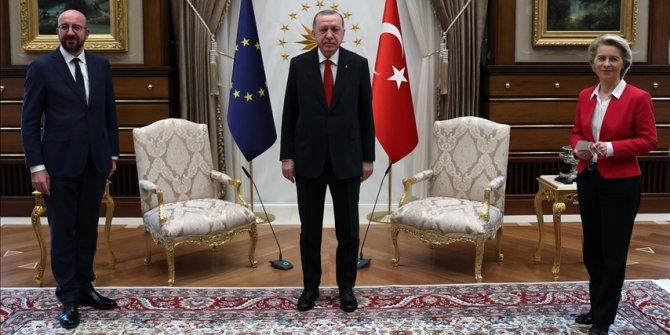 Turkish president receives top EU officials in Ankara