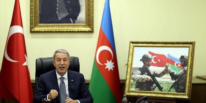 """""""Tek millet, iki devlet ilkesiyle güçlenen kardeşliğimiz Karabağ'ın özgürleştirilmesiyle adeta perçinlendi"""""""