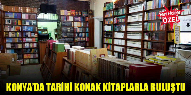 Konya'da tarihi konak kitaplarla buluştu