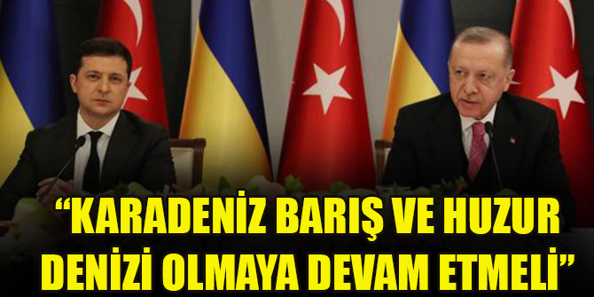 Cumhurbaşkanı Erdoğan: Karadeniz barış ve huzur denizi olmaya devam etmeli
