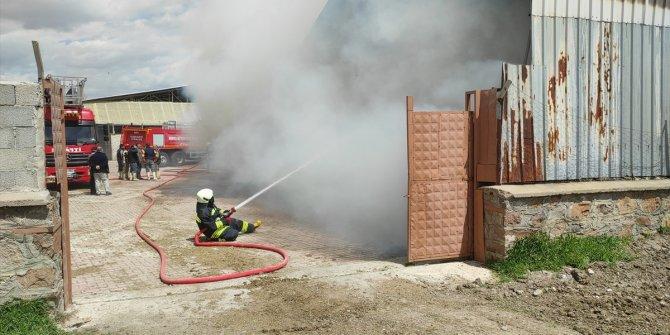Konya'da besi damında çıkan yangın söndürüldü
