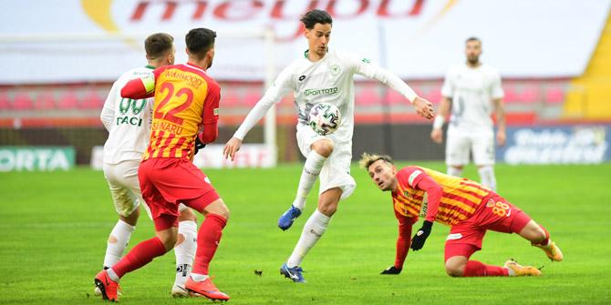 Konyaspor, Kayserispor'a üstün