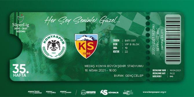 Konyaspor'da Kayserispor maçı biletleri satışa çıktı