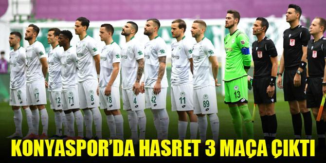 Konyaspor'da hasret 3 maça çıktı