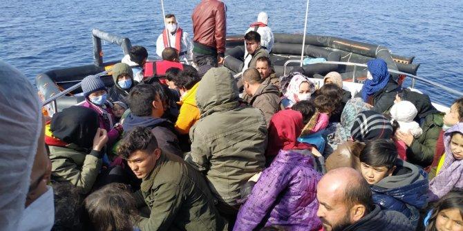 59 kaçak göçmen kurtarıldı