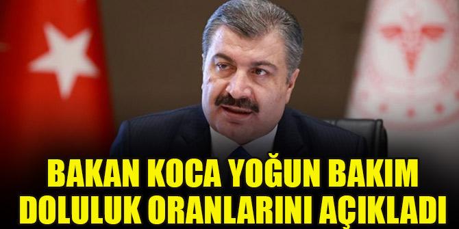 Bakan Koca: İstanbul'da yoğun bakım yataklarımızda doluluk yüzde 71,4
