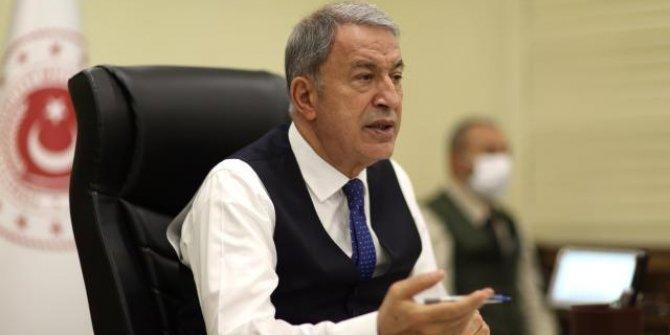 Milli Savunma Bakanı Akar'dan şehit Piyade Uzman Çavuş Nar için başsağlığı mesajı
