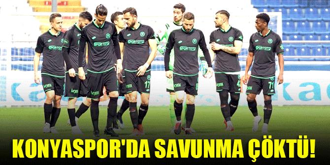 Konyaspor'da savunma çöktü!