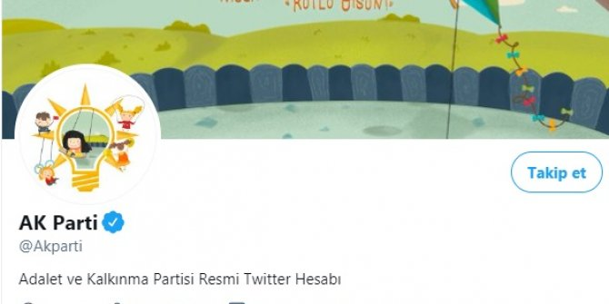AK Parti'nin sosyal medya hesaplarına '23 Nisan' logosu
