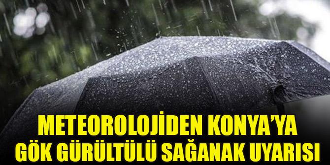 Meteorolojiden Konya için gök gürültülü sağanak uyarısı