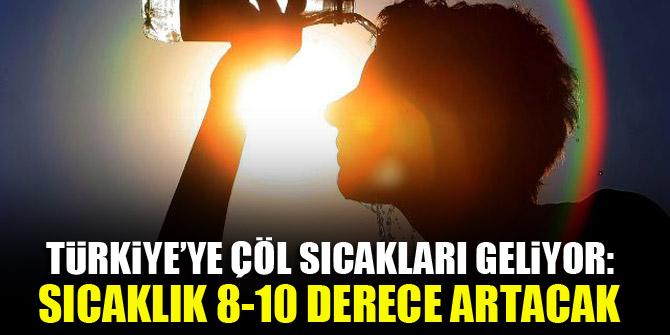 Türkiye'ye çöl sıcakları geliyor: Sıcaklık 8-10 derece artacak