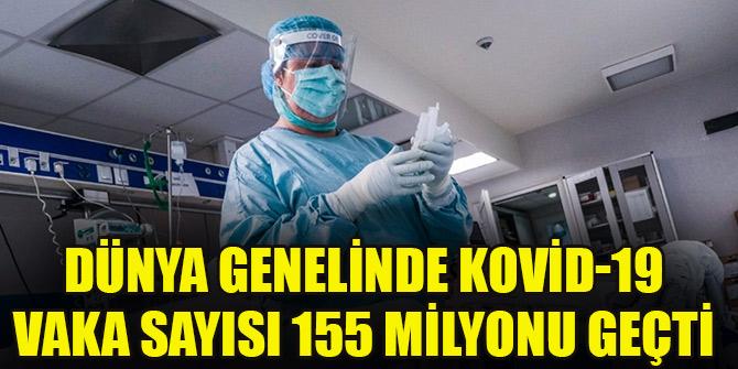 Dünya genelinde Kovid-19 vaka sayısı 155 milyonu geçti