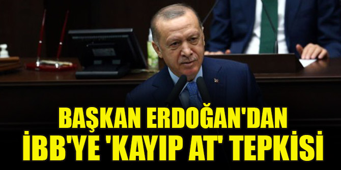 Cumhurbaşkanı Erdoğan'dan İBB'ye 'kayıp at' tepkisi