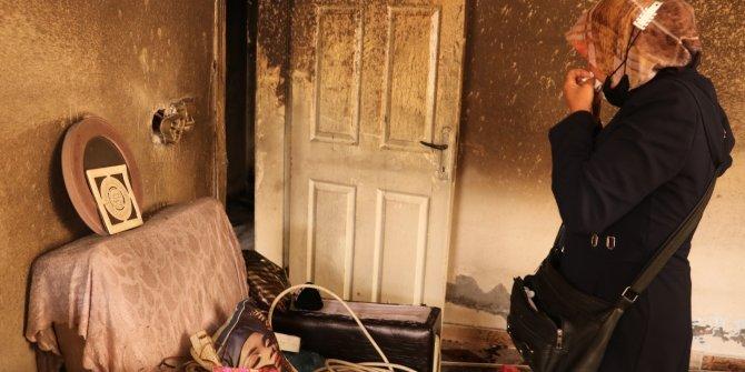 Kanser hastası kadının evi kundaklandı