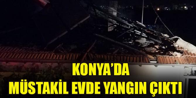 Konya'da müstakil evde çıkan yangın büyümeden söndürüldü