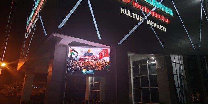 Şanlıurfa'daki bilboardlardan Kudüs'e destek