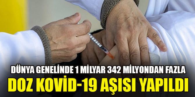 Dünya genelinde 1 milyar 342 milyondan fazla doz Kovid-19 aşısı yapıldı
