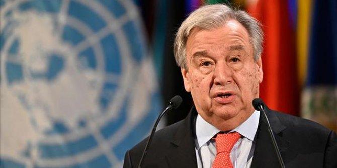 Guterres'ten 'Filistin' açıklaması