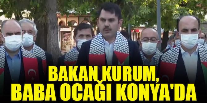 Bakan Kurum, baba ocağı Konya'da bayram namazını kıldı