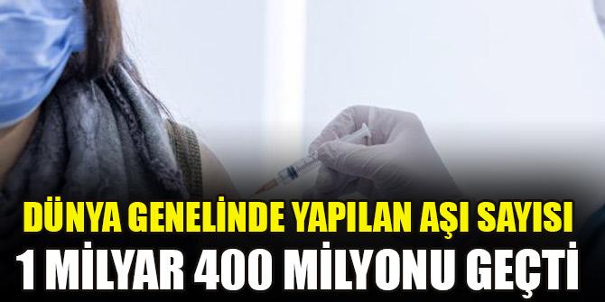 Dünya genelinde yapılan aşı sayısı 1 milyar 400 milyonu geçti