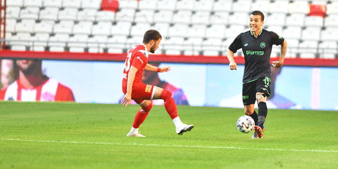 Antalyaspor: 0 - Konyaspor: 0 (İlk yarı)