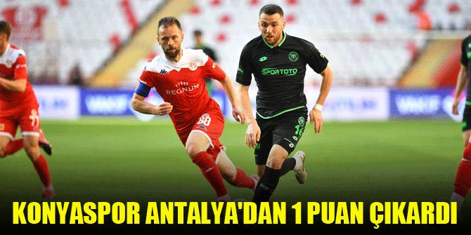 Konyaspor Antalya'dan 1 puan çıkardı