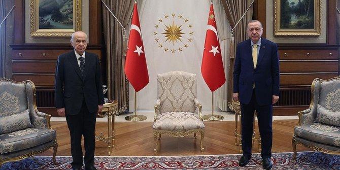 Cumhurbaşkanı Erdoğan MHP Genel Başkanı Bahçeli ile görüşecek