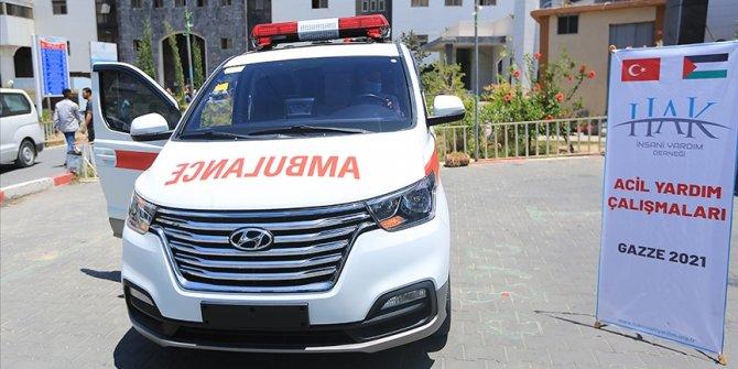 Hak İnsani Yardım Derneğinden Gazze'ye ambulans desteği